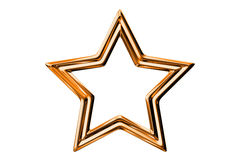 Metal stars. Isolated on white background vector illustration