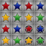 Metal stars Royalty Free Stock Images
