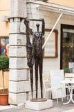 Metal statua w Gardy miasteczku Zdjęcie Royalty Free