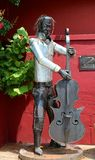 Metal Statue Of Ornamental Reggae Player Stock Photography