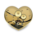 Metal steampunk heart Royalty Free Stock Photo