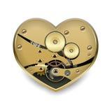 Metal steampunk heart Royalty Free Stock Photo