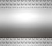 Metal steel or aluminium plate Royalty Free Stock Photos