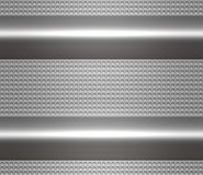 Metal steel or aluminium plate Stock Photography