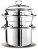 Metal Steel Cooking Pot Royalty Free Stock Image