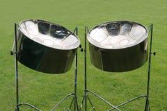 Metal Steel Drums. Royalty Free Stock Image