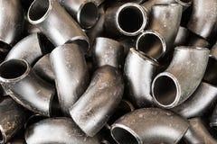 Metal steel elbows background Stock Image