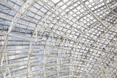 Metal steel framework in a building Royalty Free Stock Photos