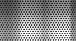 Metal steel holed or perforated grid background royalty free stock image
