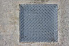 Metal steel menhole Royalty Free Stock Photos