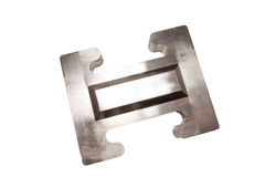 Metal steel product obtained by milling grinding and polishing Royalty Free Stock Photos