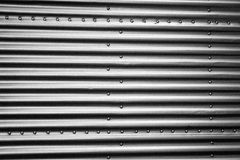 Metal steel sheets with rivets Stock Image
