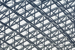 Metal steel Structure Architecture detail Modern design Stock Images
