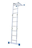 Metal step-ladder isolated Stock Images