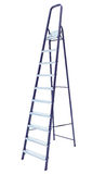 Metal step-ladder isolated. Aluminum metal step-ladder isolated white background Royalty Free Stock Photo