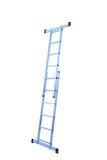 Metal step-ladder isolated. Aluminum metal step-ladder isolated white background Stock Images
