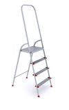 Metal stepladder on a white background Stock Images