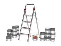 Metal stepladder Stock Photography