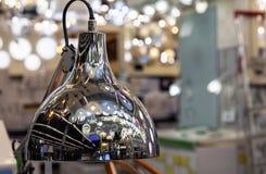 Metal stołowa lampa z odbiciem różnorodność świeczniki zdjęcia royalty free