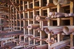 Metal stock rack Royalty Free Stock Image