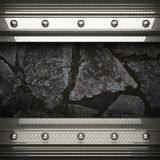 Metal and stone background Stock Photography
