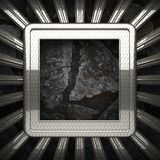 Metal and stone background Stock Images