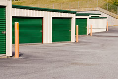 Metal storage building Stock Images