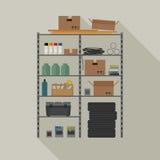Metal storage vector illustration. Royalty Free Stock Photos