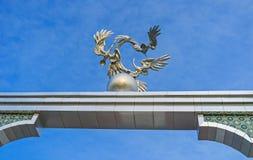 The metal storks in Tashkent Stock Photography
