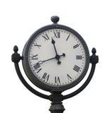 Metal street clock Royalty Free Stock Image
