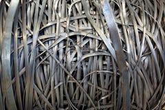 Metal strip bundle. Part of the bundle of the metal strip Stock Images