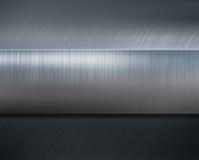 Metal stripe over brushed metallic background 3d illustration vector illustration