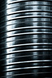 Metal striped pipe texture Royalty Free Stock Photography