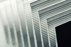 Metal stripped radiator closeup picture Royalty Free Stock Photo