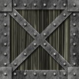 Metal Strong Locked Box Royalty Free Stock Photos