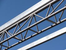 Metal structure. Part of modern metal structure over blue sky Royalty Free Stock Photos