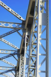 Metal structure. Steel structure detail over blue sky Royalty Free Stock Photography