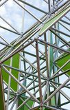 Metal structure. Abstract metal structure on a background of the sky Stock Photography