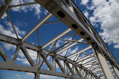 Metal structure of the bridge Royalty Free Stock Image