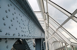 Metal structure of the bridge Royalty Free Stock Photo