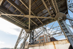 Metal structure. Detail of a mechanical metal structure Stock Photos