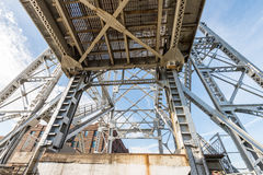 Metal structure. Detail of a mechanical metal structure Stock Images