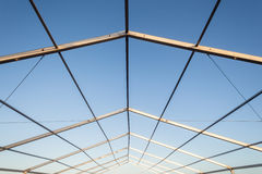 Metal Structure Frame Mobile Tent Stock Photography