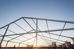 Metal Structure Frame Mobile Tent royalty free stock image