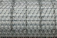 Metal Structure with Grid Like Pattern Outdoors stock photo