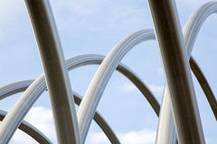 Metal Structure on Motorway Stock Photography