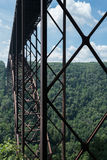 Metal structure of the New River Gorge Bridge in West Virginia Royalty Free Stock Photography