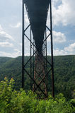 Metal structure of the New River Gorge Bridge in West Virginia Royalty Free Stock Photos