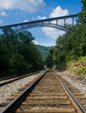 Metal structure of the New River Gorge Bridge in West Virginia Stock Image