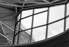 Metal structure roof Stock Images